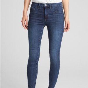 Gap stretch jean legging in indigo size medium